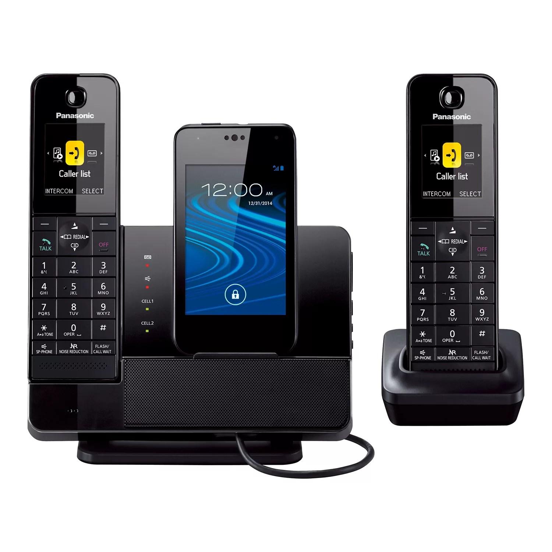 Panasonic DECT 60 Cordless Dual Handset Phone Amp Smartphone Charging Dock System