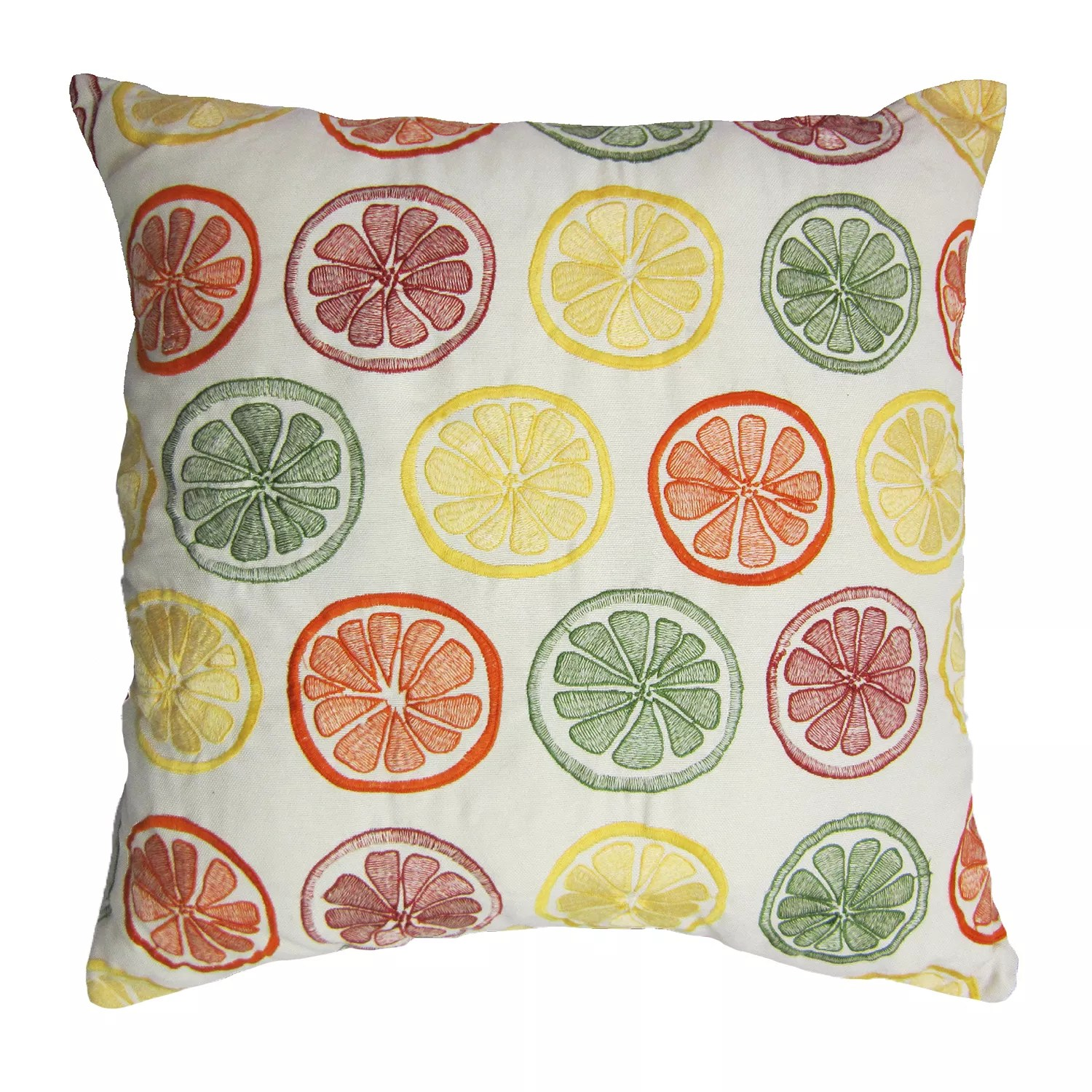 home fashions international o citrus indoor outdoor throw pillow