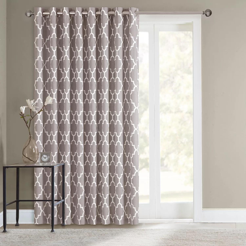 sonoma goods for life fret patio door curtain 100 x 84