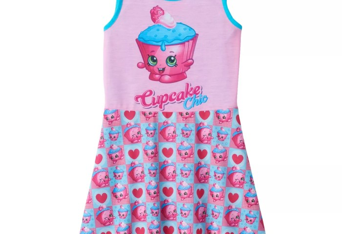 Girls 4 12 Shopkins Cupcake Chic Derby Nightgown