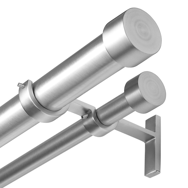 umbra cappa adjustable double curtain rod