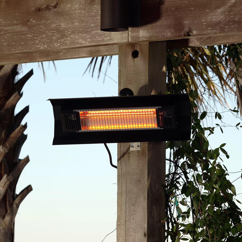 fire sense wall mounted infrared patio heater