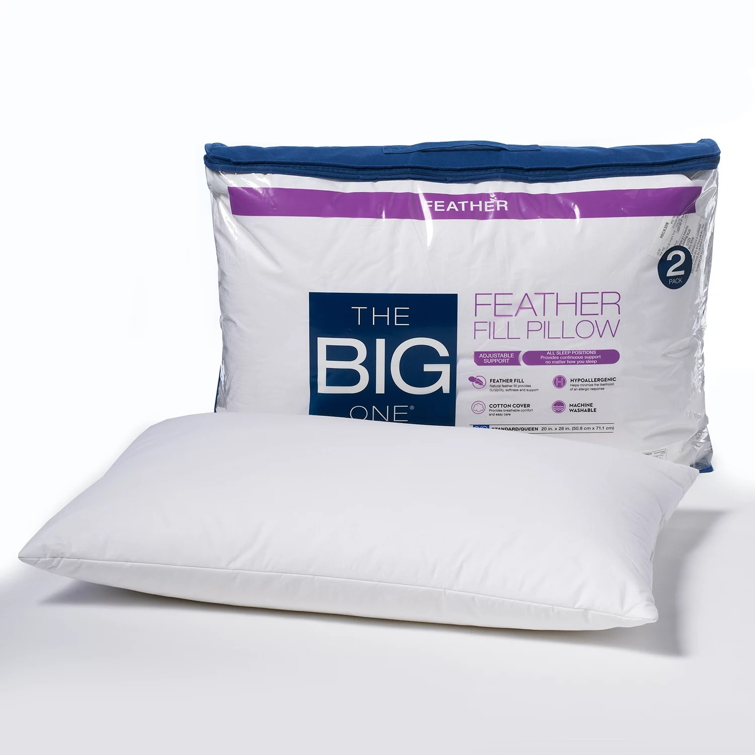 the big one 2 pack feather pillow