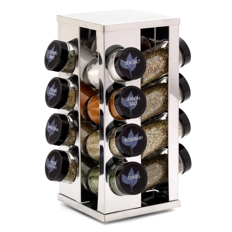 kamenstein heritage revolving countertop 16 jar spice rack