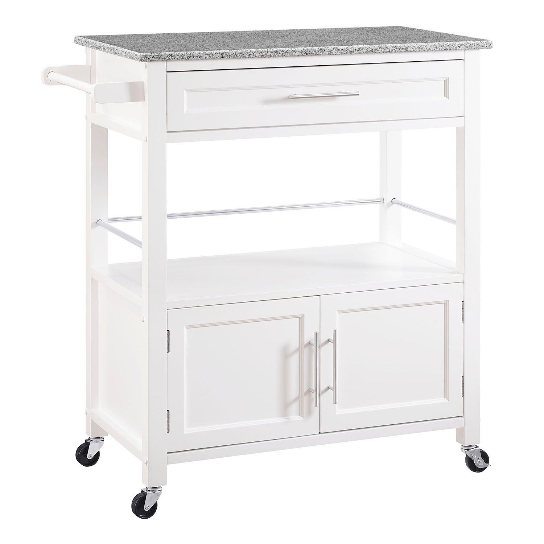 storage kitchen microwave cart