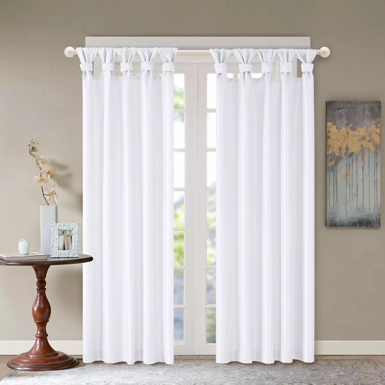 madison park 1 panel daniele twisted tab faux silk window curtain