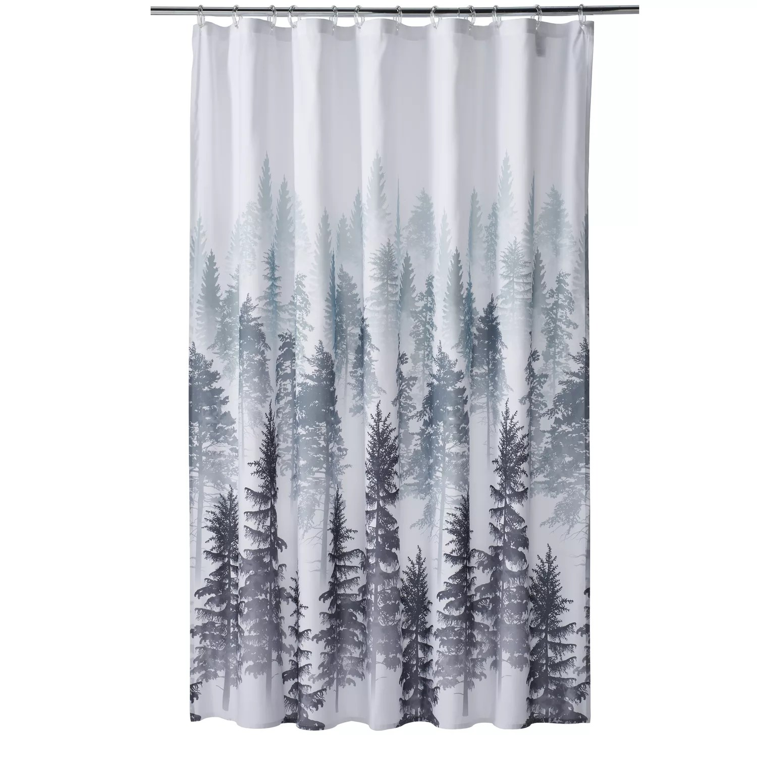 the big one forest shower curtain