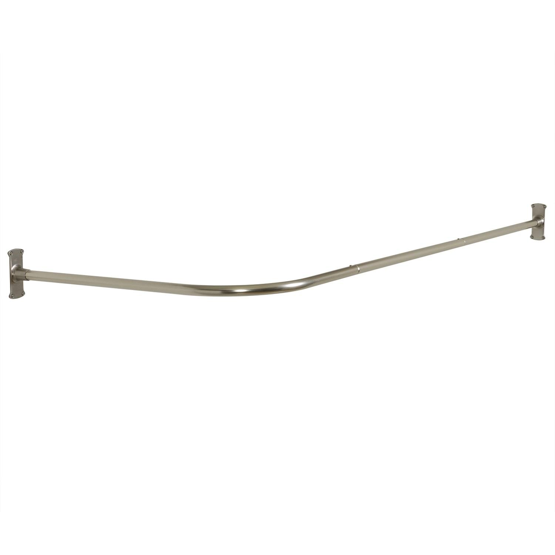 zenna home never rust l shaped corner shower curtain rod