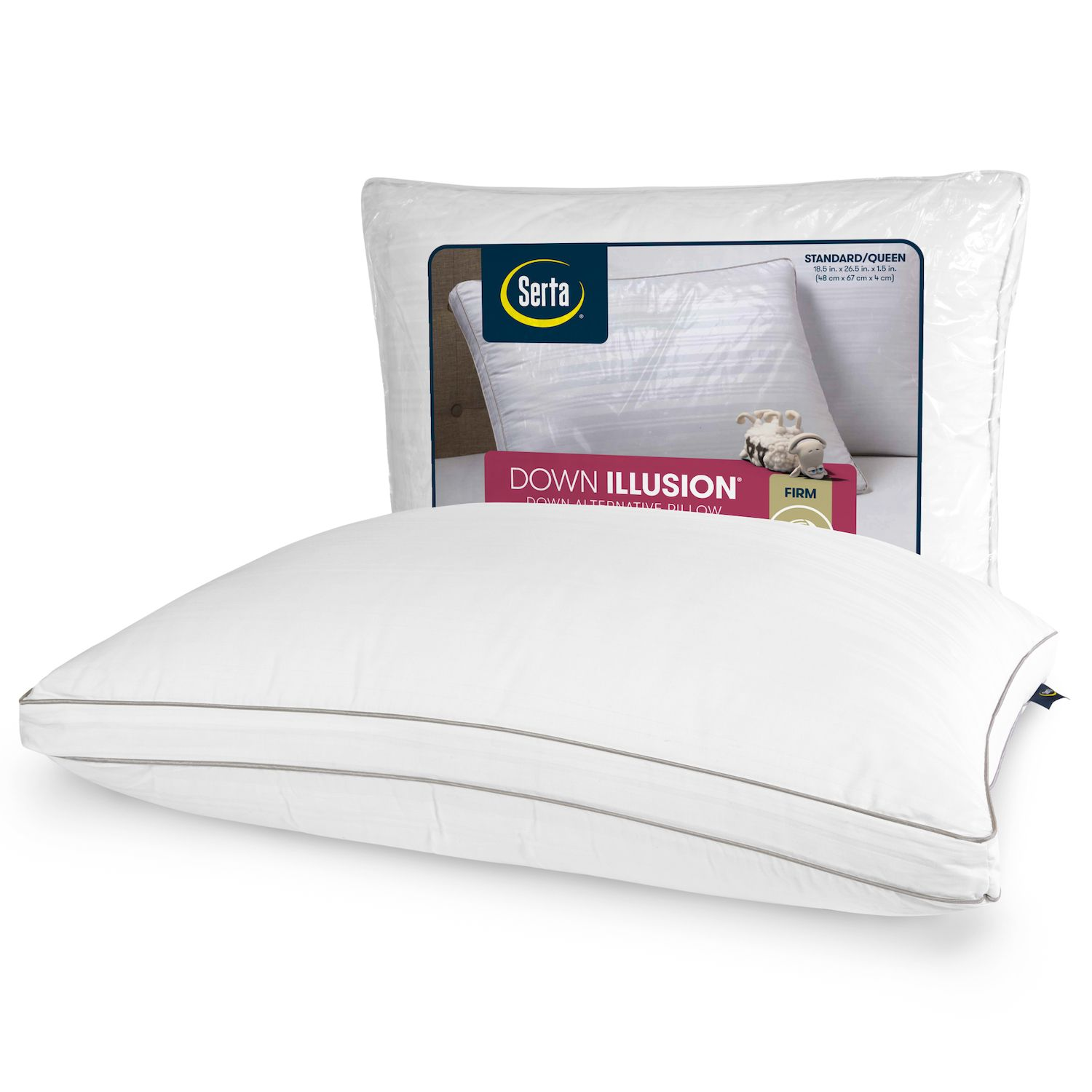 serta down illusion firm bed pillow
