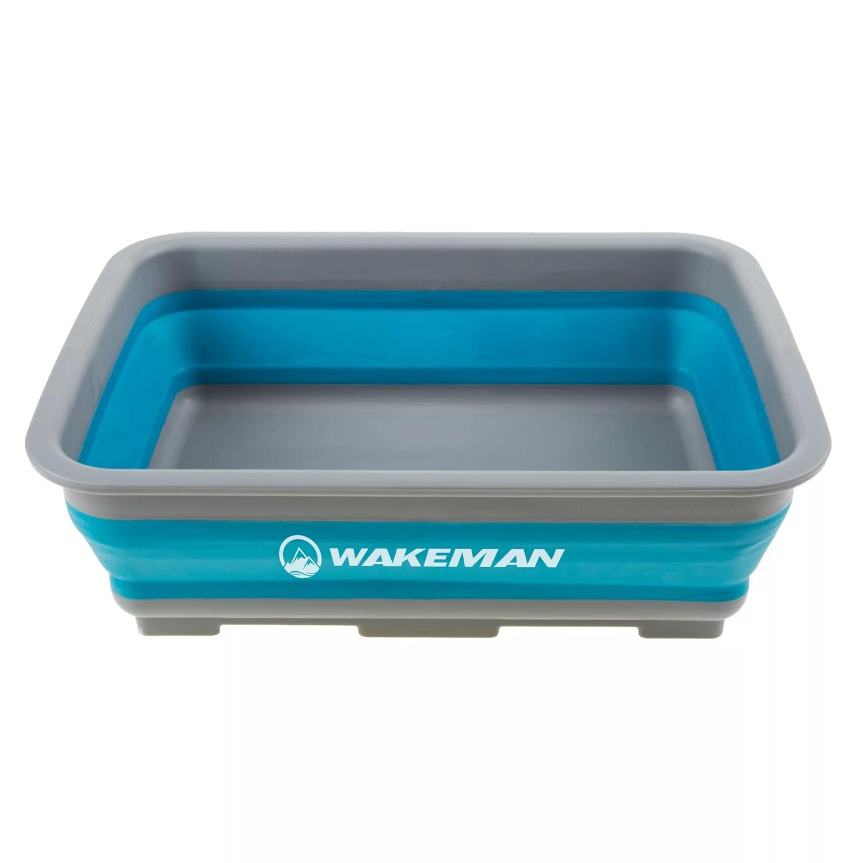 wakeman outdoors 10 liter collapsible portable camping wash basin