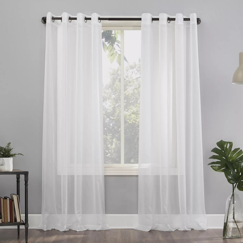 no 918 1 panel emily sheer voile grommet window curtain