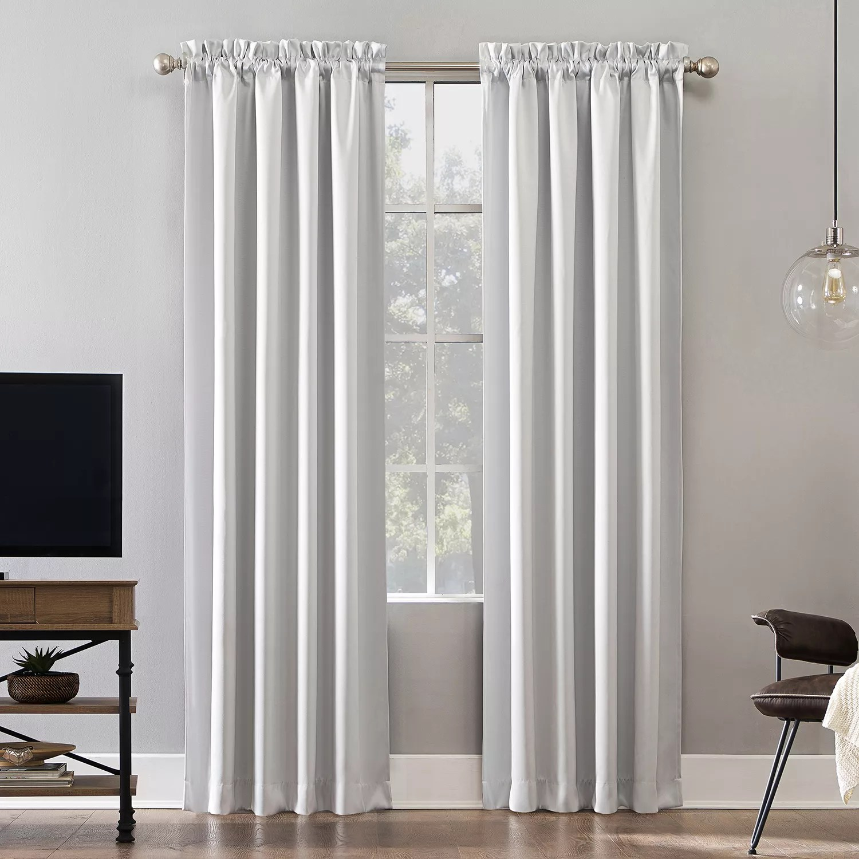 sun zero oslo theater grade extreme 100 blackout rod pocket curtain panel