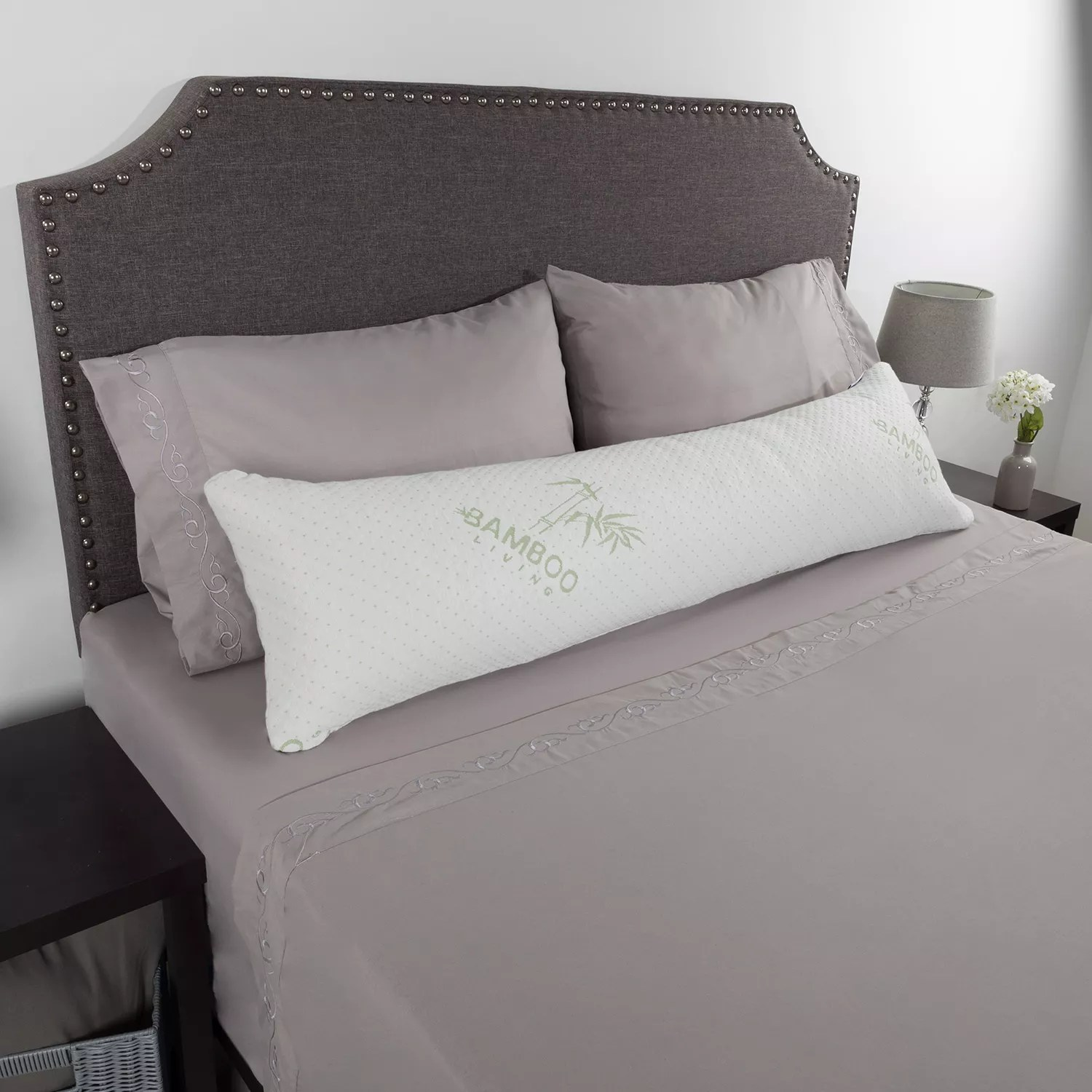 portsmouth home charcoal infused memory foam body pillow