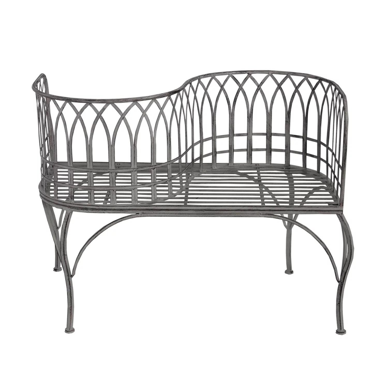 modern indoor outdoor curved loveseat bench