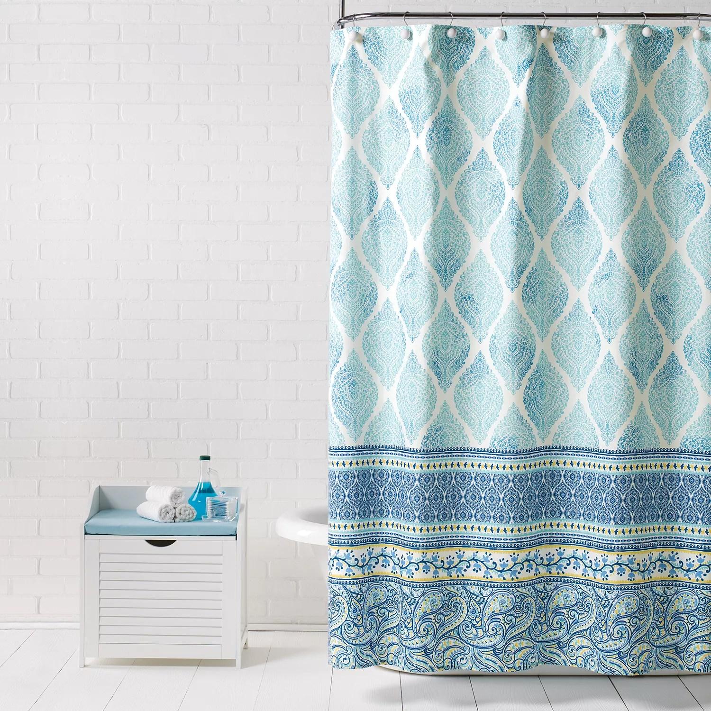 saturday knight ltd boho paisley shower curtain
