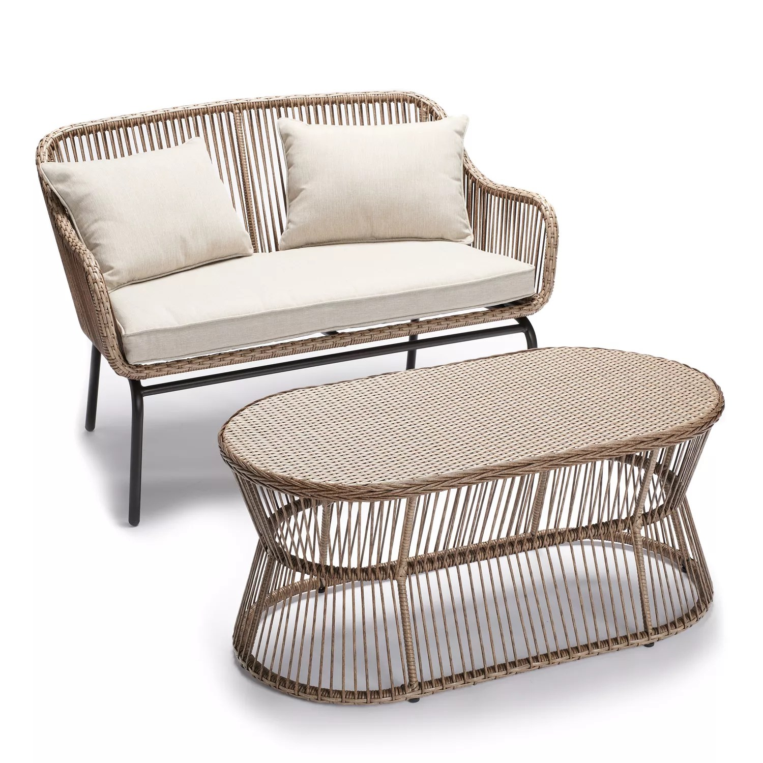 sonoma goods for life patio solta loveseat coffee table 2 piece set
