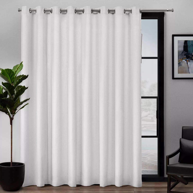 exclusive home loha patio grommet top window curtain