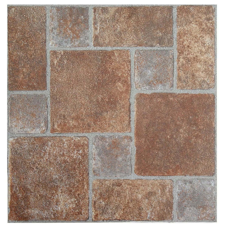 achim nexus brick pavers 20 piece self adhesive vinyl floor tile set