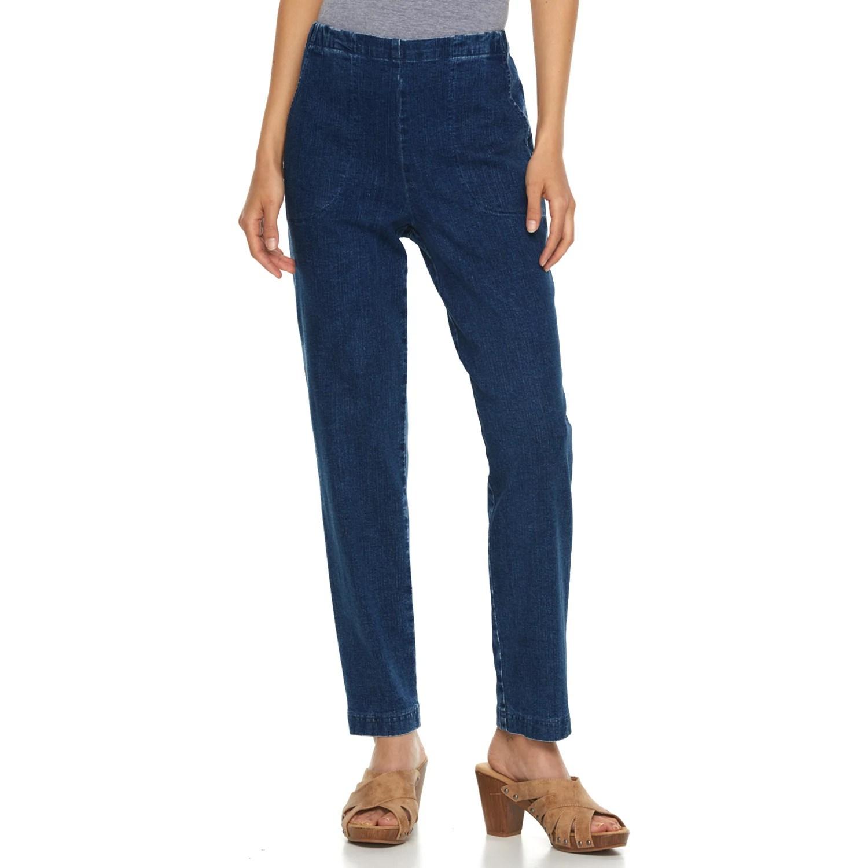 Petite Croft Amp Barrow Pull On Jeans