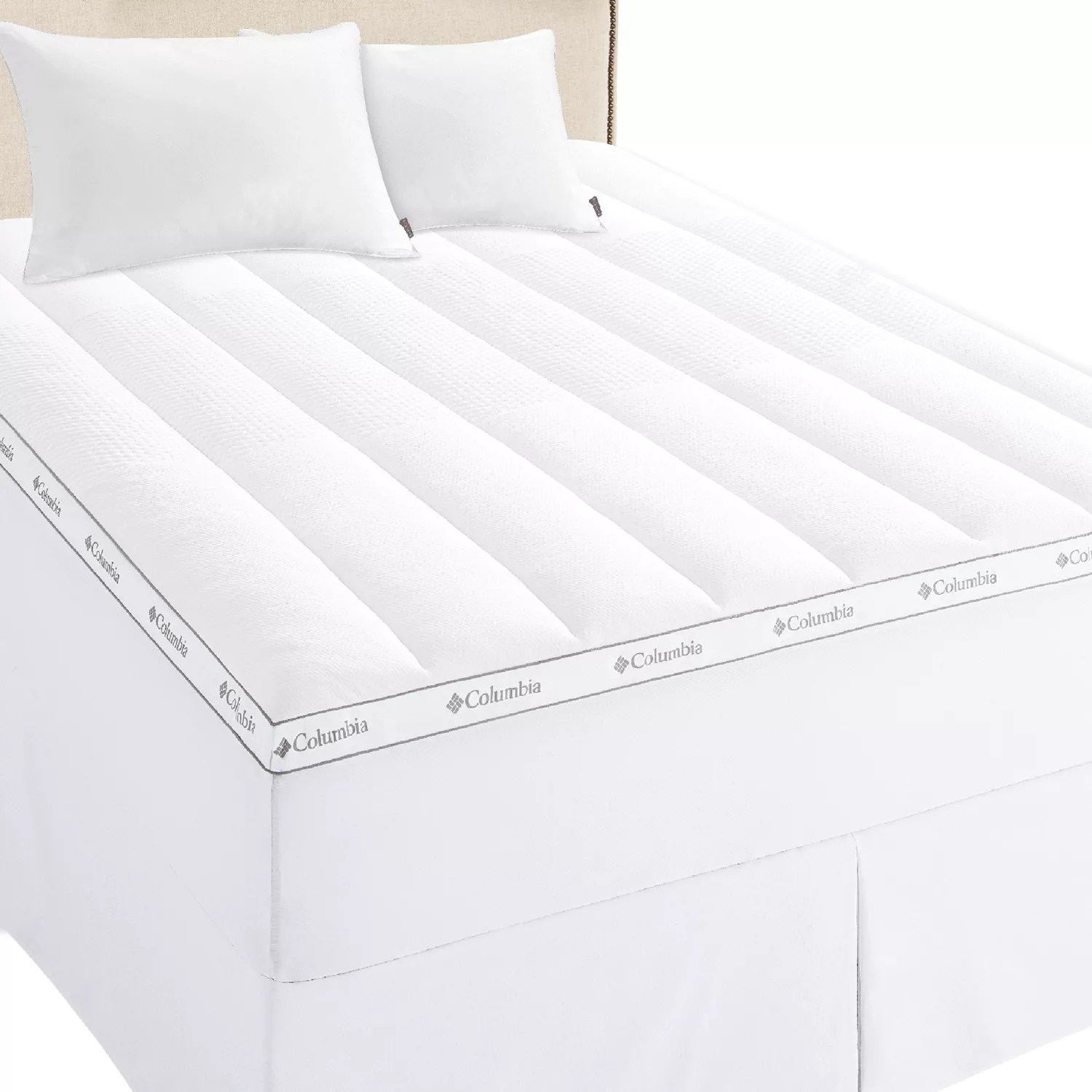 columbia ice fiber cooling 3 in mattress topper