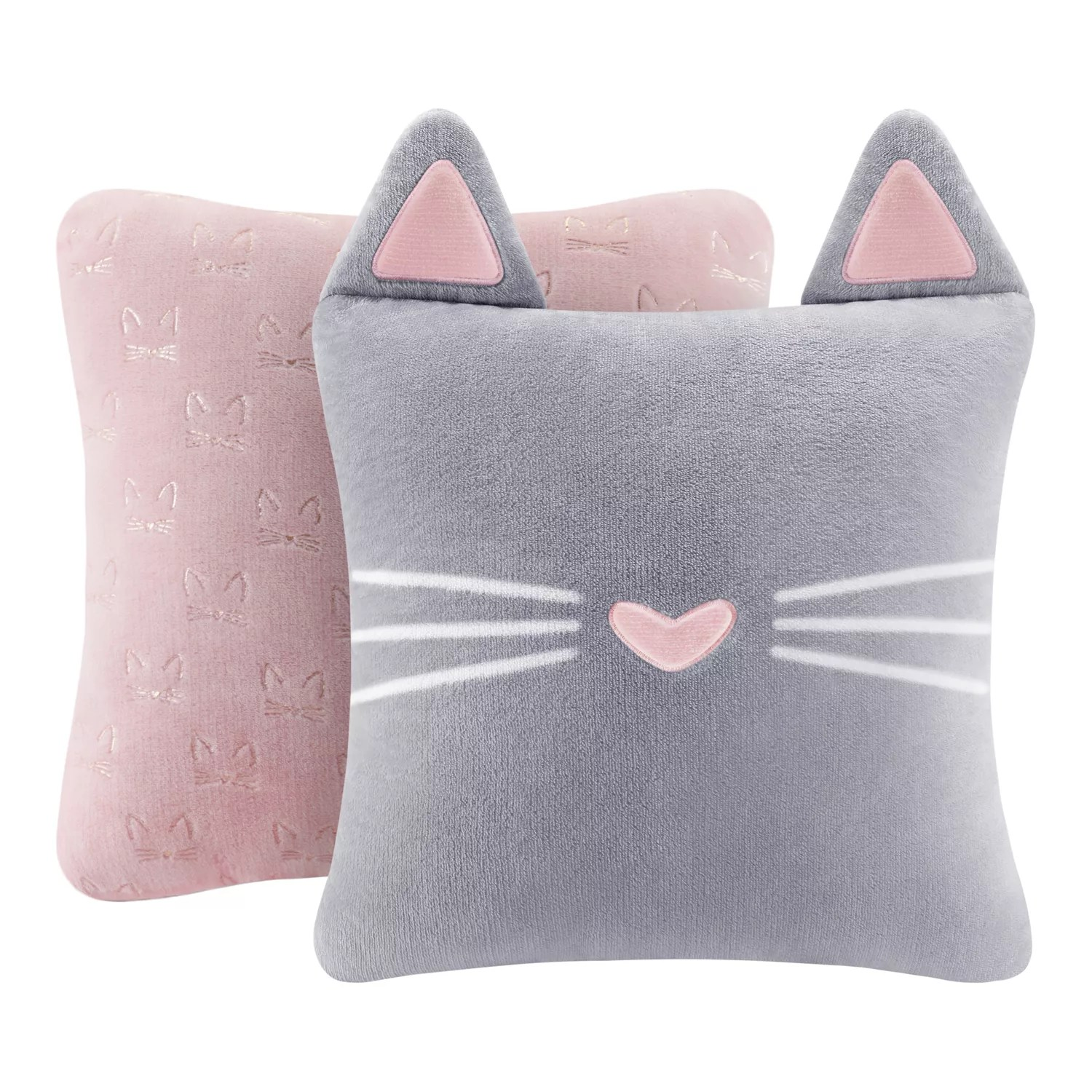 the big one cat shaped 2 pack throw pillow set