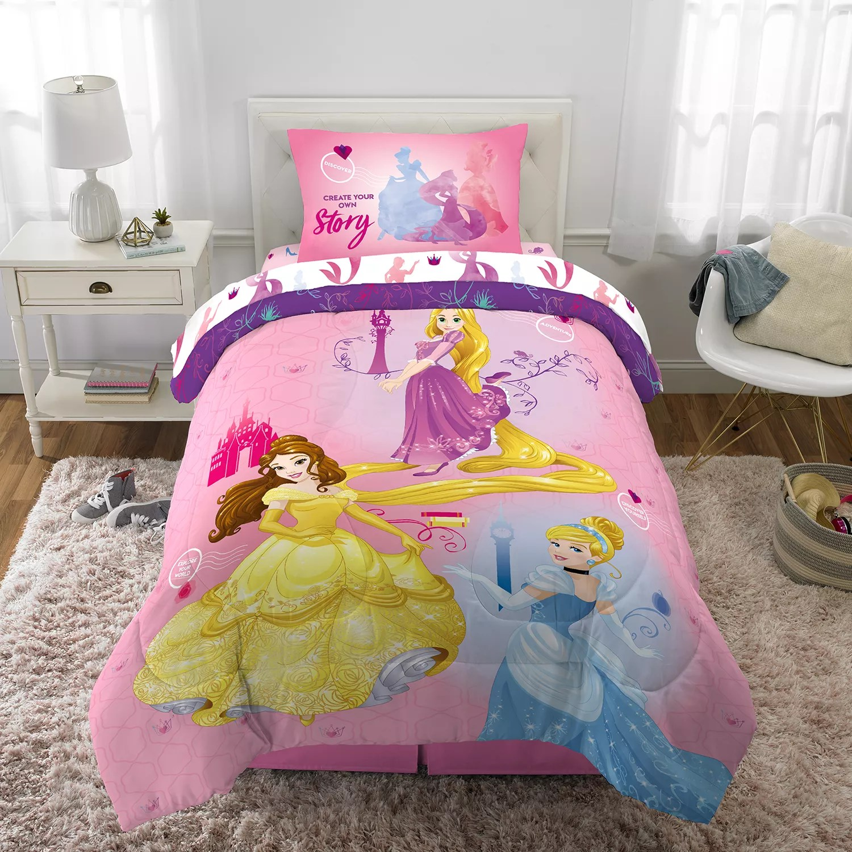 disney s princesses ready to explore 5 piece full bed set