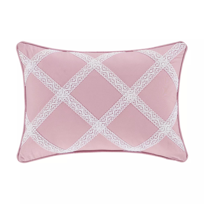 royal court rosemary rose boudoir decorative throw pillow