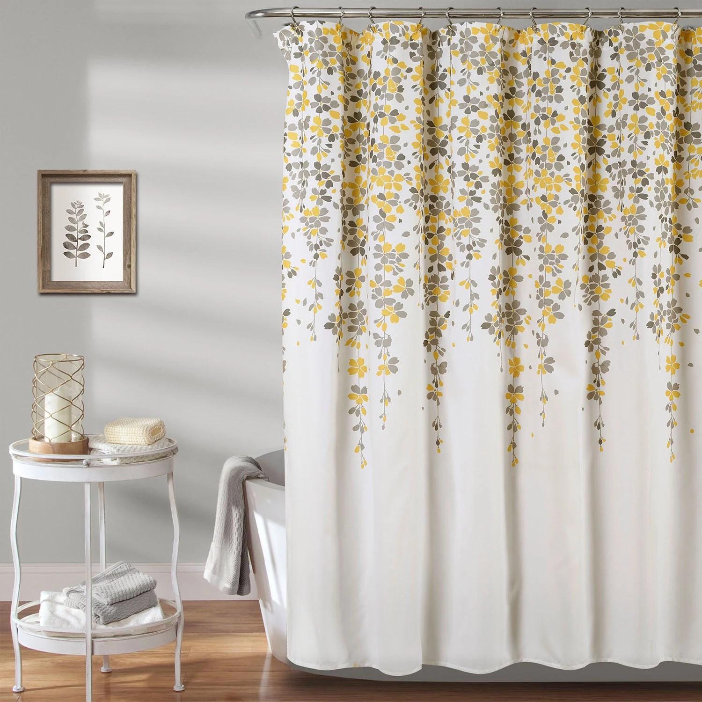 yellow shower curtain kohl s