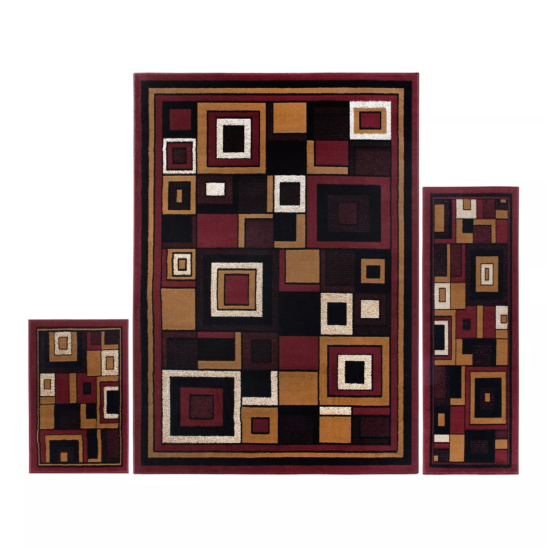home dynamix ariana mey 3 piece area rug set