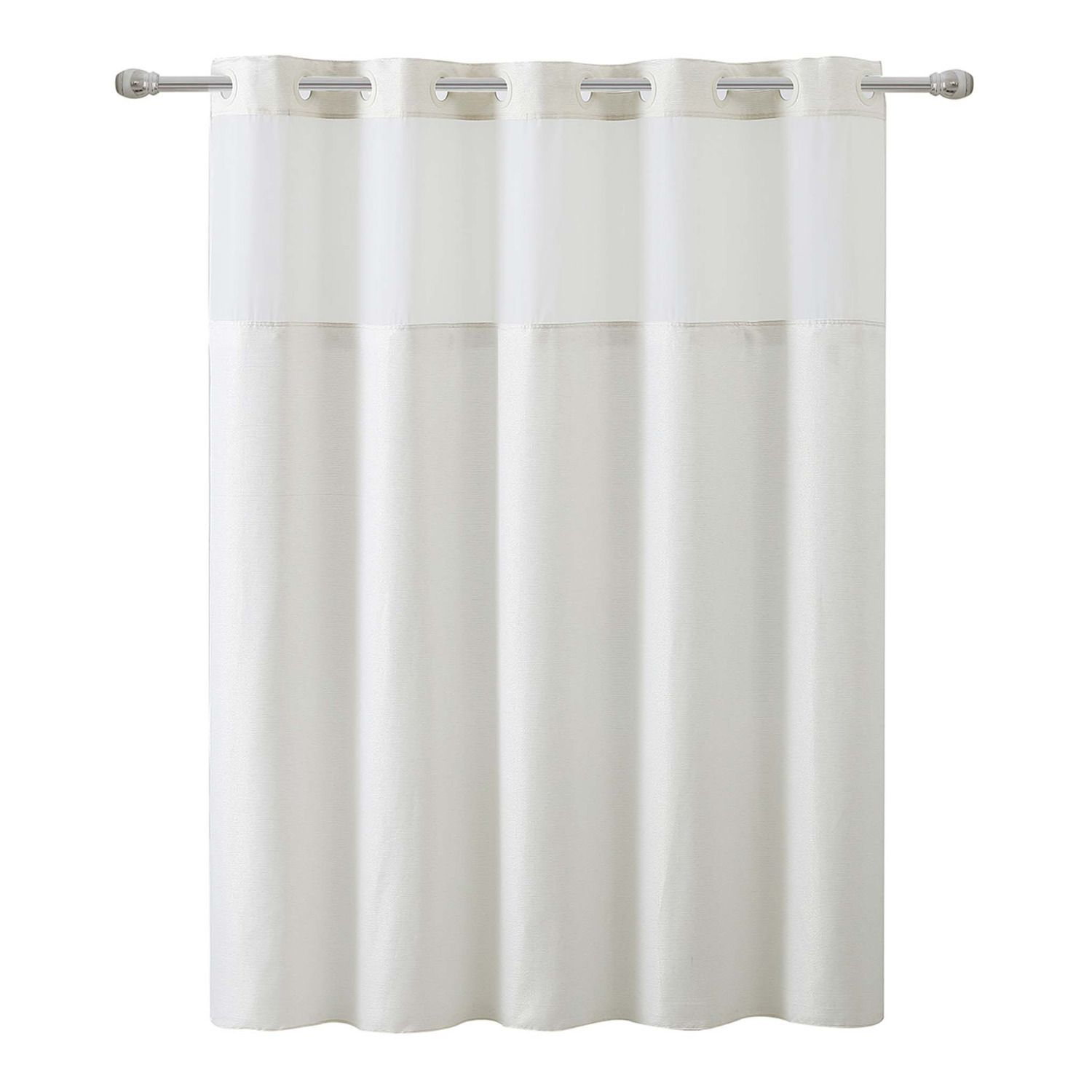 hookless silver lux shower curtain