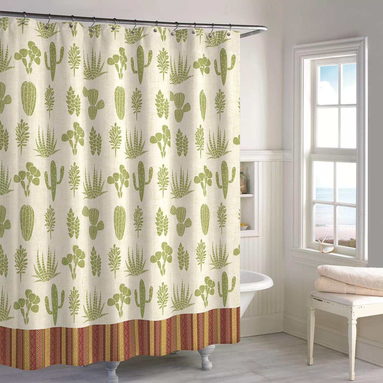 destinations cactus shower curtain