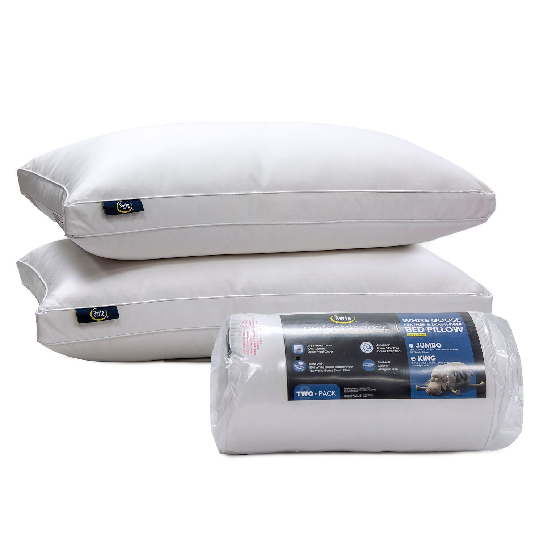 serta hypoallergenic pillows bed