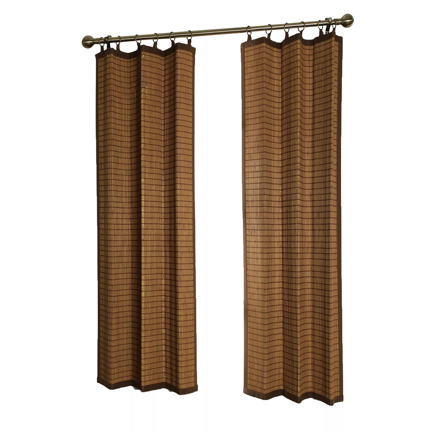 versailles home fashions bamboo wood curtain ring top window curtain