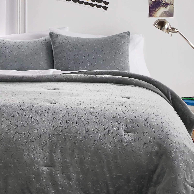 dream factory star plush comforter set