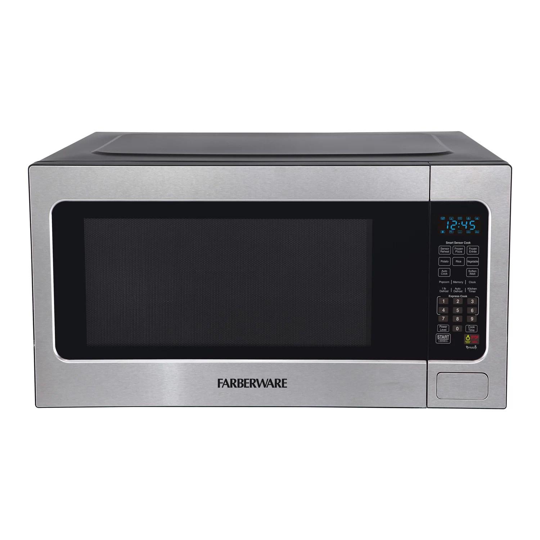 farberware professional 1200 watt microwave oven with smart sensor cooking