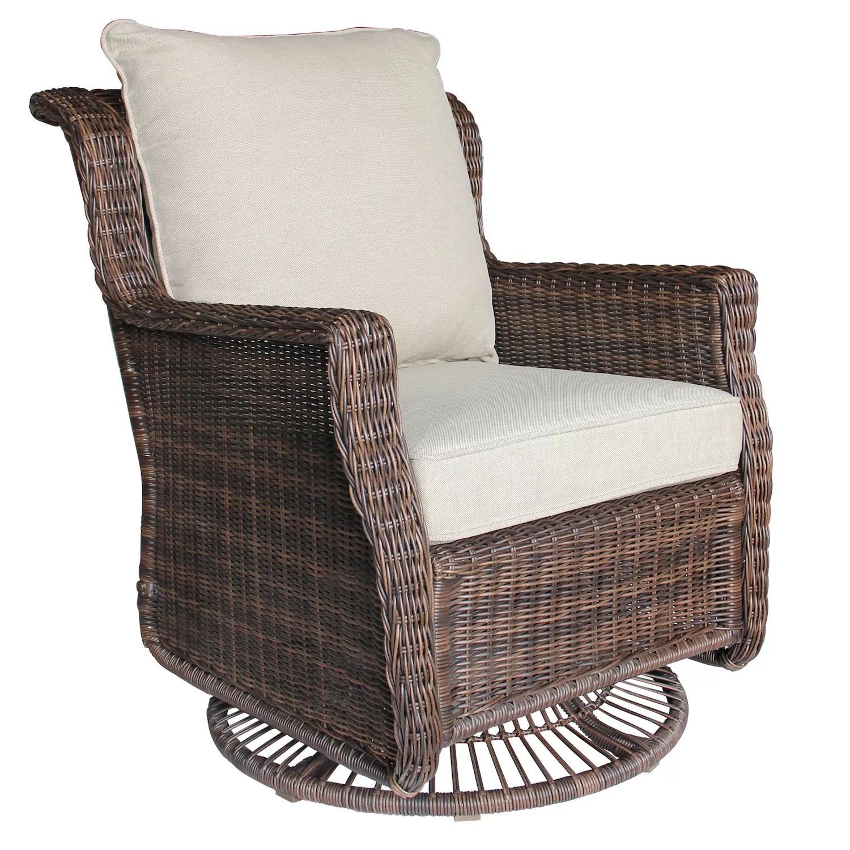 sonoma goods for life cortena resin wicker swivel glider patio chair