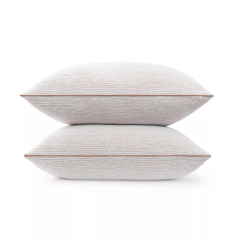 beautyrest copper lux memory foam cluster pillow