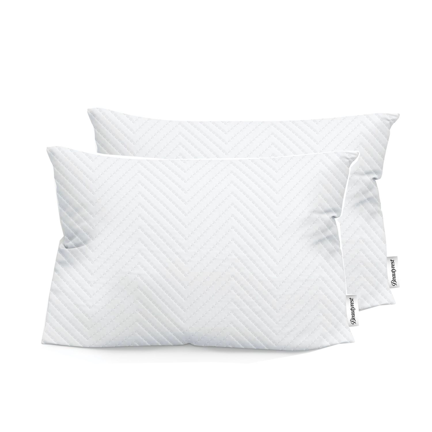 beautyrest quilted comfort antimicrobial protection memory foam cluster pillow