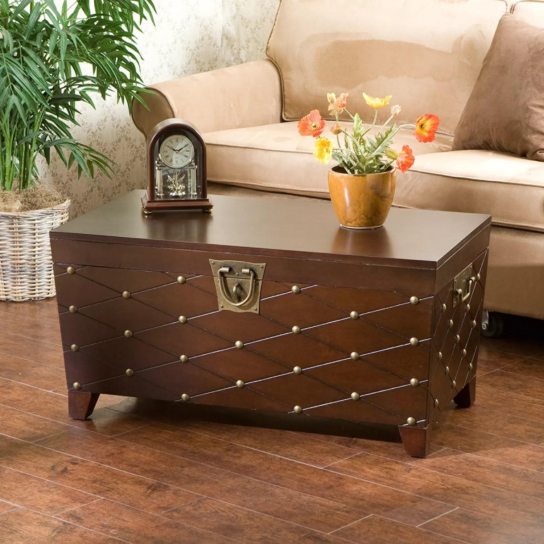 nailhead trunk coffee table