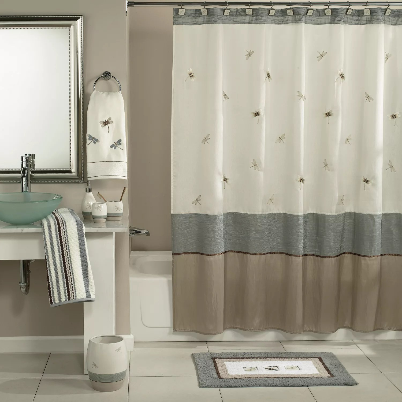 shalimar dragonfly shower curtain