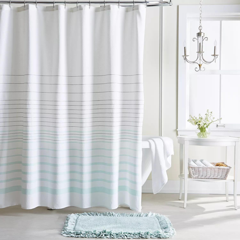 lc lauren conrad woven stripe shower