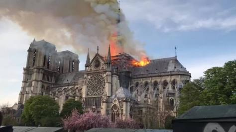 Image result for cathedral of notre dame fire