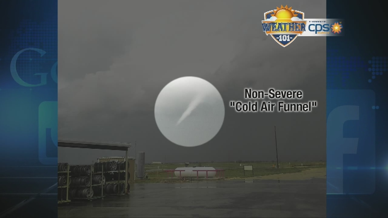 Weather 101 Cold Air Funnel Clouds