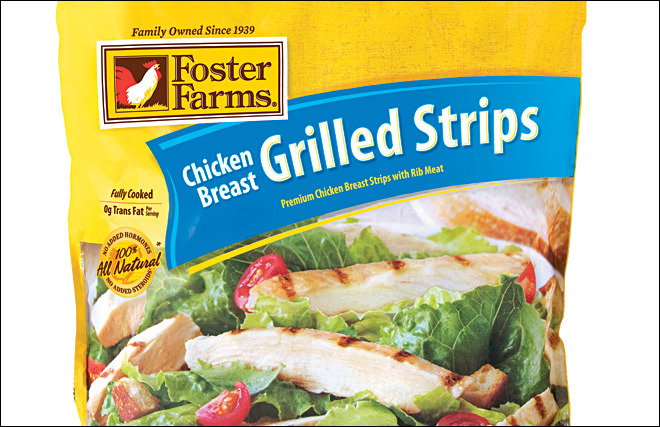 Recall for nearly 40,000 lbs. of Foster Farms 'Breast Grilled Strips'