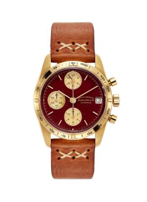 Eberhard & Co. 18k yellow gold chronograph watch