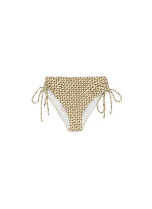 Chain print side tie swimsuit bottoms