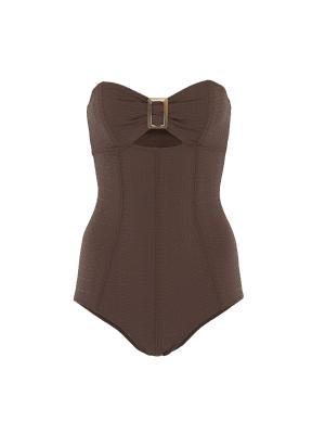 Buckled bandeau maillot