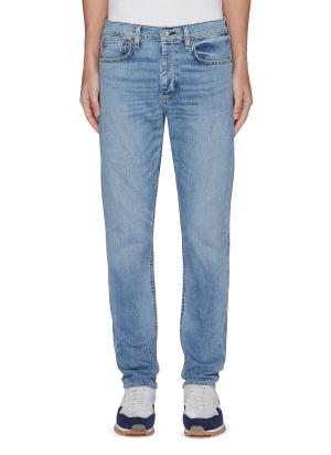 'Fit 1' faded straight fit jeans