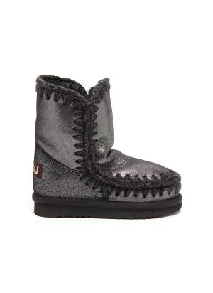 'Eskimo Tall' microglitter leather toddler winter boots