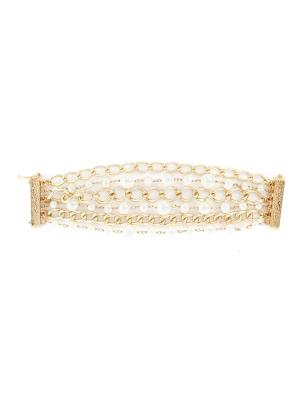 'Comedy' pearl layered bracelet